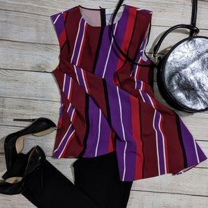 Zara Striped Sleeveless Blouse